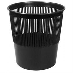 Ведро-Корзина офисная пластиковое для мусора 10л. офисная решетчатая (черная) - фото 10104