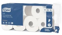 Туалетная бумага в стандартных рулонах для диспенсеров Tork Premium ультрамягкая (110316) - фото 10216