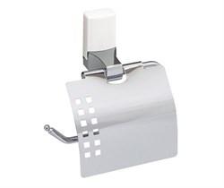 Держатель туалетной бумаги с крышкой К-5025WHITE - фото 10669