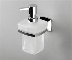 Дозатор для жидкого мыла стеклянный, 230 ml WasserKRAFT (Wern K-2599) - фото 10994