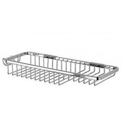 Полочка металлическая для ванной решетка комбинированная - фото 11125