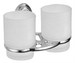 Стакан подвесной двойной для зубных щеток D213310 - фото 11127