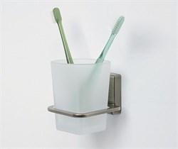 Стакан для зубных щеток стеклянный WasserKRAFT (Exter К-5228) - фото 11155
