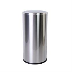 Урна для мусора 30 литров из нержавеющей стали с вращающейся крышкой - фото 14612