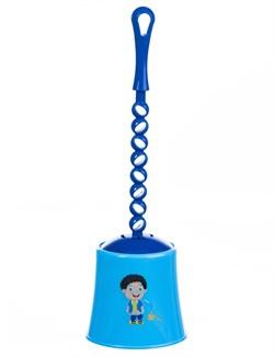 Ершик для унитаза Mario Kids 8331 Blue - фото 14642