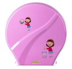 Диспенсер для туалетной бумаги Mario Kids 8165 Pink - фото 14654
