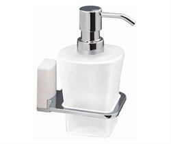 Дозатор для жидкого мыла стеклянный, WasserKRAFT (Leine K-5099WHITE) - фото 14916