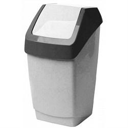 Урна пластиковая 15 литров с качающейся крышкой - фото 14977