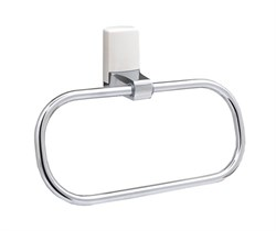 Кольцо для полотенец WasserKRAFT (Leine K-5060WHITE) - фото 15052