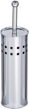 Ершик туалетный напольный металлический хромированный с перфорацией - фото 17853