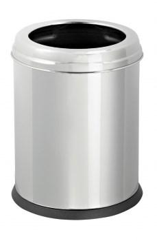 Урна 12л из нержавеющей стали, круглая, внутренний пластиковый контейнер D0020581000 - фото 19406