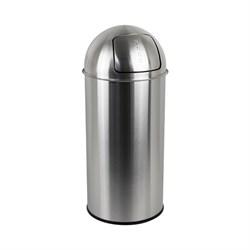 Урна (ведро) металлическое с кнопкой PUSH 50л - фото 21155
