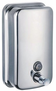 Дозатор (диспенсер) для жидкого мыла металл (матовый) 0,5л - фото 4478