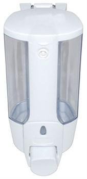 Дозатор для жидкого мыла пластиковый белый 350 мл (0,35л) - фото 4874