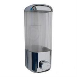 Дозатор для жидкого мыла пластиковый хром 500мл (0,5л) - фото 5321