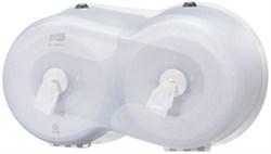 Диспенсер двойной для туалетной бумаги Tork SmartOne® Wave в мини-рулонах (472028) - фото 9250
