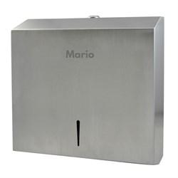 Диспенсер для бумажных полотенец Mario 9909 матовый металл - фото 9263
