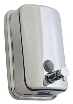 Дозатор для жидкого мыла металл 1 л (хром) - фото 9874