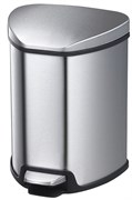 Урна для мусора (5л.) Система SOFT CLOSE SILVER (Матовый Хром)