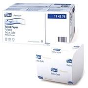 Туалетная бумага листовая для диспенсеров Tork Premium мягкая (114276)