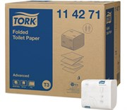Туалетная бумага листовая для диспенсеров Tork Advanced (114271)