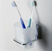 Стакан для зубных щеток стеклянный WasserKRAFT (Leine К-5028)