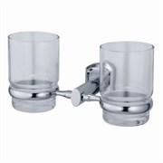 Подстаканник двойной стеклянный WasserKRAFT (Oder K-3028D)