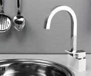 Смеситель для кухни с поворотным изливом WasserKRAFT (Aller 1067WHITE)