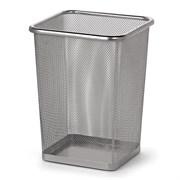 Ведро-корзина офисное квадратное для мусора 14 л. сетчатое металл