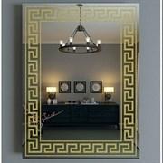 Зеркало 78*62 см с золотым орнаментом