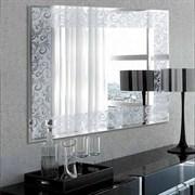 Зеркало 80*60 см с серебрянным орнаментом