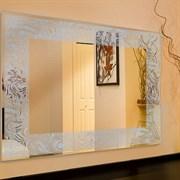 Зеркало 80*60 см с перфорированным серебрянным узором