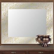 Зеркало 51.8*73 см с золотым орнаментом