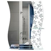 Зеркало 60*79 см с белым стеклом и полками 50 см и 20 см