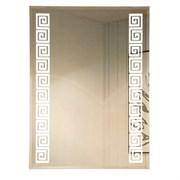 Зеркало 60*80 см с внутренней подсветкой пескоструйным орнаментом
