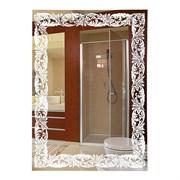 Зеркало 49*69 см с матированным рисунком