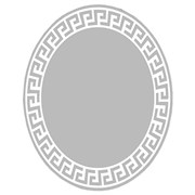 Овальное зеркало 60*80 см с матированным рисунком
