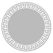 Круглое зеркало с матированным рисунком диаметр -70 см