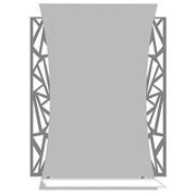 Зеркало 50*70 см с тонированным матированным рисунком и полкой 50 см