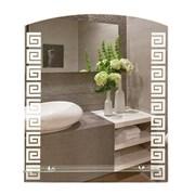 Зеркало 53.5*62 см с матированным рисунком и полкой 50 см