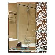 Зеркало 59*74 см с темным стеклом и полками 50 см и 20 см
