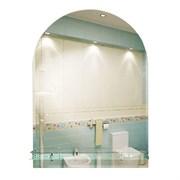 Зеркало 50*67 см комбинированное с фацетом и полкой 50 см