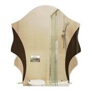 Зеркало 52.5*61 см с тонированным зеркалом и полочкой 40 см