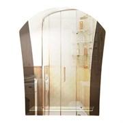 Зеркало 54*67 см с тонированным зеркалом и полочкой 40 см