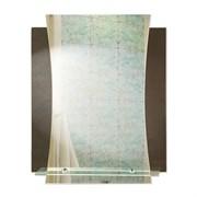Зеркало 56*69 см с тонированным зеркалом и полочкой 50 см