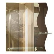 Зеркало 59*69 см с тонированным зеркалом и полочками 50 см и 20 см