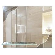 Зеркало 60*50 см с тонированным зеркалом и полочкой 50 см