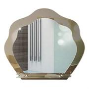 Зеркало 76.5*67 см с тонированным зеркалом и полочкой 50 см