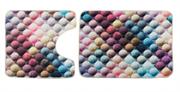 Комплект ковриков для ванной (2 предмета) 70х50 50х50 (KECE Bubble)