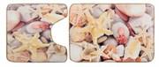 Комплект ковриков для ванной (2 предмета) 70х50 50х50 (Ракушки)